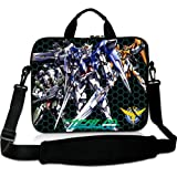 Anime Laptop Shoulder Bag with Gundam(3) Patterns Waterproof Canvas Fabric 15 15.6 Inch Laptop Bag Case Cover(Twin Sides)