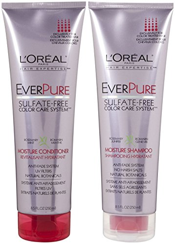 L'Oreal Paris EverPure Sulfate-Free Color Care System Moisture, DUO set Shampoo + Conditioner, 8.5 Ounce, 1 each (L Oreal Conditioner compare prices)