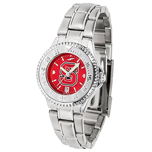 (Linkswalker North Carolina State Wolfpack Ladies' Steel Anochrome Watch)