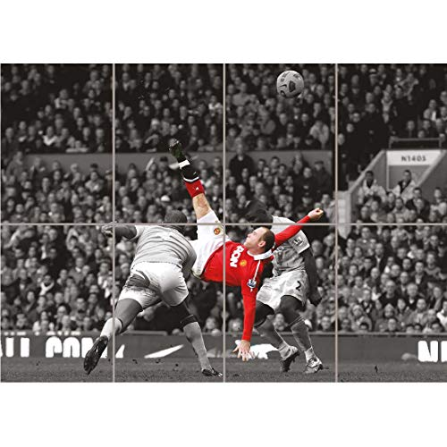WAYNE ROONEY OVER HEAD KICK MANCHESTER UNITED NEW GIANT ART PRINT POSTER OZ1004