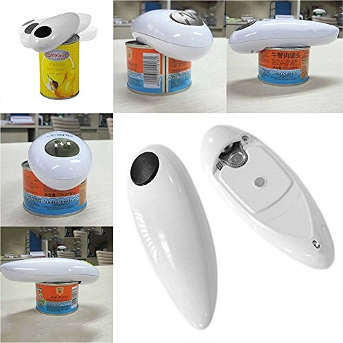 One Touch Automatic Electric Tin Can Opener Bottle Tin Can Open Tool Kitchen US (Camping Appliances compare prices)