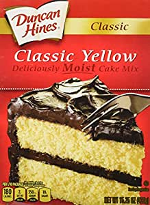 Duncan Hines, Classic Cake Mix, Yellow Cake, 15.25oz Box (Pack of 4)