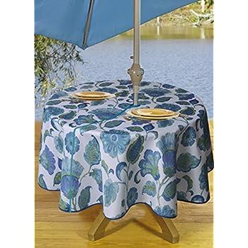 amazon com outdoor tablecloths umbrella hole with zipper patio rh amazon com outdoor tablecloth with umbrella hole round patio tablecloth with umbrella hole zipper