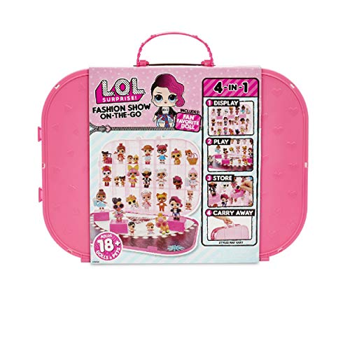 L.O.L. Surprise! Fashion Show On-The-Go Storage/Playset with Doll Included - Hot Pink