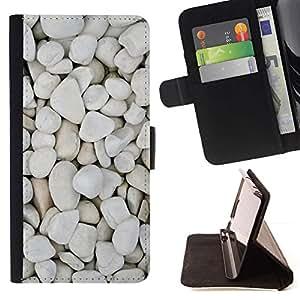 Momo Phone Case / Flip Funda de Cuero Case Cover - Pebbles Beach Diseño natural - Sony Xperia Z5 Compact Z5 Mini (Not for Normal Z5)