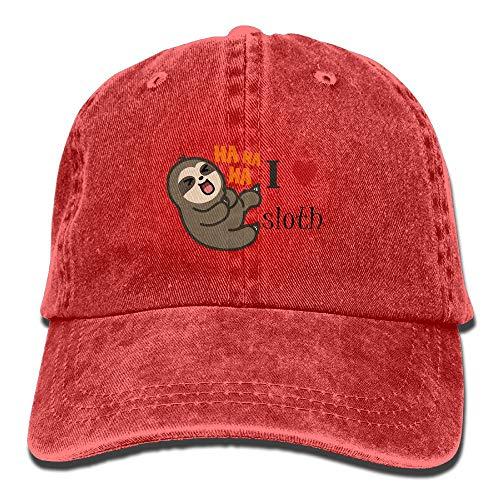 I Love Sloth Cowboy Hat Adjustable Baseball Cap Sunhatcap Peaked Cap