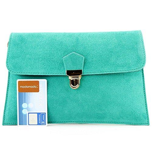 leather handbag Bag bag Türkis city ital Wild Modamoda 1 de T206 clutch YqwEIO44Tx