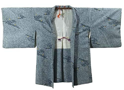 ギャラリー証明覚醒リサイクル 羽織 絞り 梅の花模様  裄62.5cm 身丈76cm ポリエステル