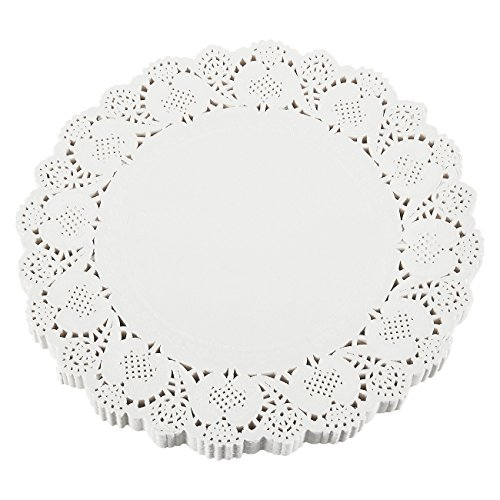Paper Doilies – 250-Pack Round Lace Placemats for Cakes, Desserts, Baked Treat Display, Ideal for Weddings, Formal Event Decoration, Tableware Decor, White - 12 Inches in Diameter (White Doily Vintage)