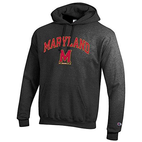 (Elite Fan Shop Maryland Terrapins Hooded Sweatshirt Arch M Charcoal -)