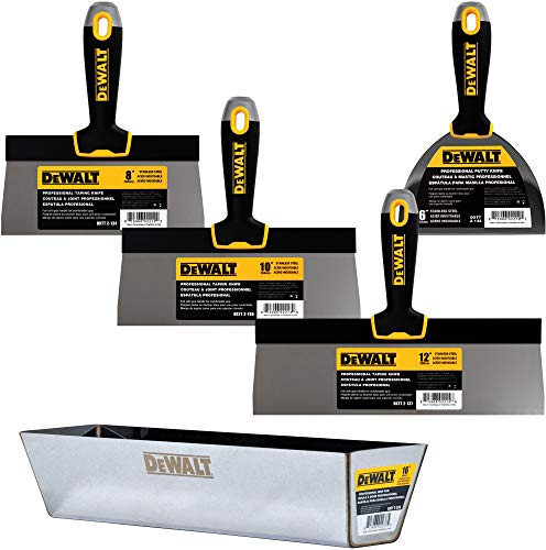 DEWALT Stainless Steel Taping Knife & Mud Pan Set + FREE BONUS 6