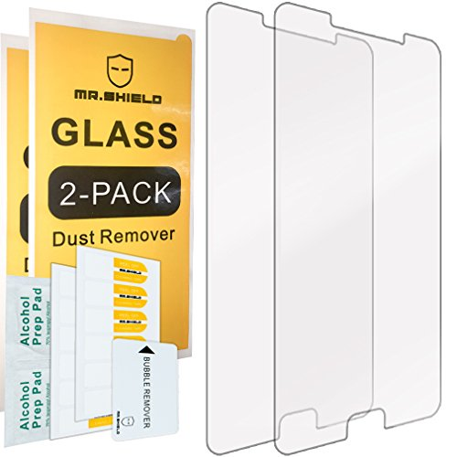Cheap Screen Protectors [2-PACK]-Mr Shield For Samsung Galaxy A9 (2016) / Galaxy A9 Pro (2016)..