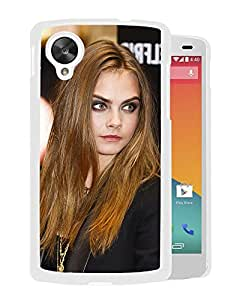 Beautiful Girl Cover Case For Google Nexus 5 With Cara Delevingne Girl Mobile Wallpaper(125) Phone Case
