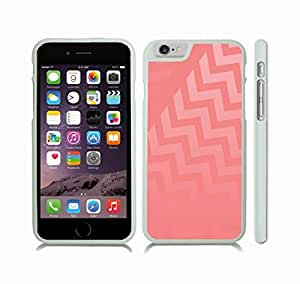iStar Cases? iPhone 6 Plus Case with Chevron Pattern Salmon Pink/ Gradient Pink Stripe , Snap-on Cover, Hard Carrying Case (White)