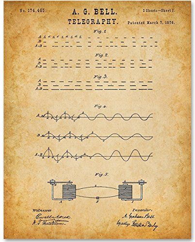 Telegraphy - 11x14 Unframed Patent Print - Great Gift for HAM Radio Operators
