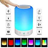 【ONE DAY SALE】 Portable Bluetooth Speakers V4.0 Wireless Speakers Stereo Subwoofer Smart Touch Speakers Color Changing … (Small)