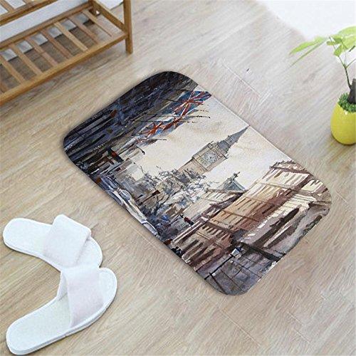 Kitzen Teppiche EuropäIscher Stil Kreativ Modern Malerei Malerei Malerei Landschaft TüRmatten Schlafzimmer Wohnzimmer Teppich 40cm  60cm, D B07DJ7R1V7 Duschmatten cb5ab0