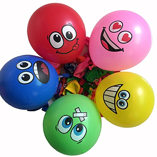 OMG Emoji Colored Balloons