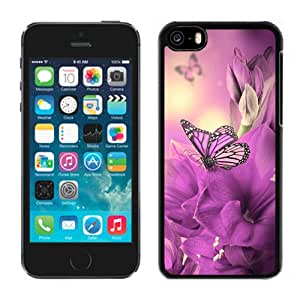 Primula Purple Butterfly Durable High Quality iPhone 5C Phone Case