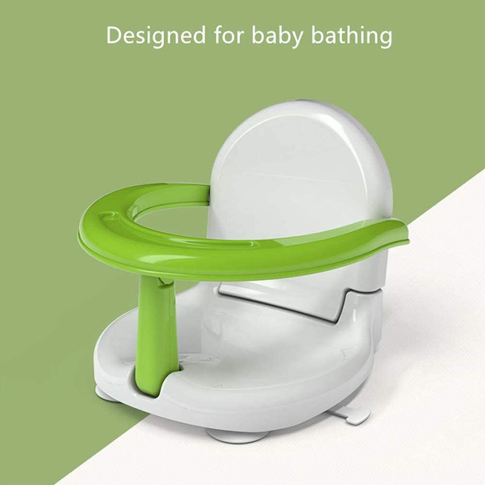 DAMEING Summer Infant Bath Seat Multifunctional Baby Shower Seat Eating Safety Chair Shower Baby Bathtub Seat Portable Folding Non-slip Safety Toy Bath Seat Support for Kids Toddlers