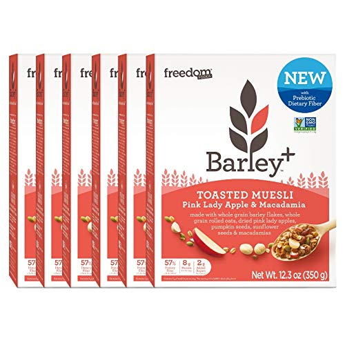 Barley+ Multi Fiber Toasted Muesli (Pink Lady Apple & Macadamia Nut) - 6 X 12.3oz Boxes ()