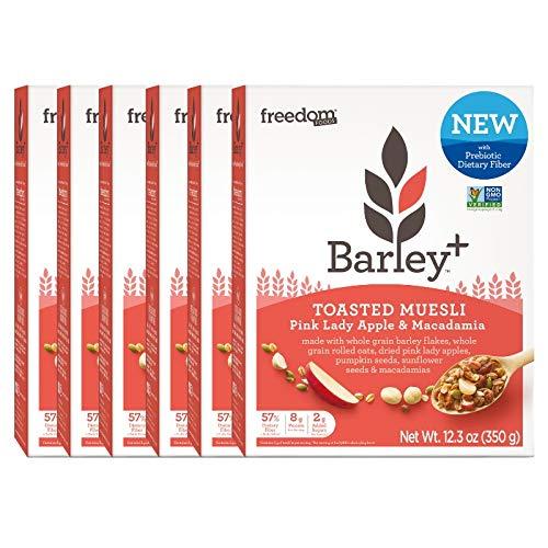 Barley+ Multi Fiber Toasted Muesli (Pink Lady Apple & Macadamia Nut) - 6 X 12.3oz Boxes