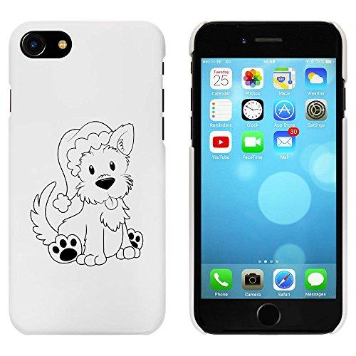 Blanc 'Noël Westie Chien' étui / housse pour iPhone 7 (MC00071076)
