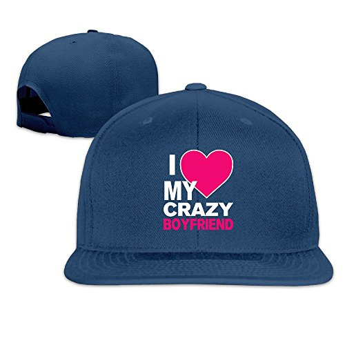 Custom Unisex-Adult I Love My CRAZY BOYfriend Flat for sale  Delivered anywhere in USA
