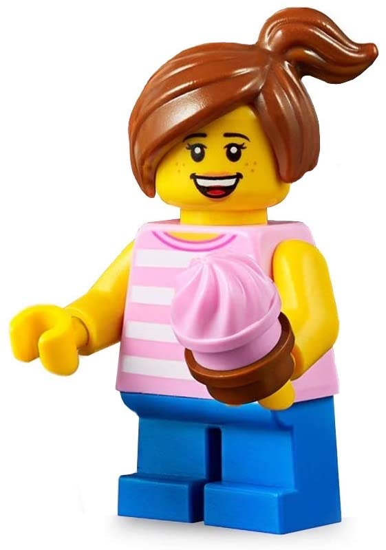 31077 Girl with Ponytail LEGO City Minifigure with Cupcake