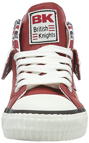 British Knights ROCO Unisex-Kinder Basketball Hoch Rot (red/union jack 02)