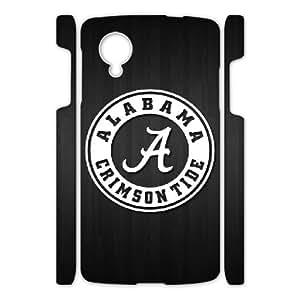 Customized Sport Phone Case Alabama Crimson Tide For Google Nexus 5 Q5A2111851