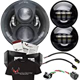 Eagle Lights LED Headlight Kit - Black Generation 2 7