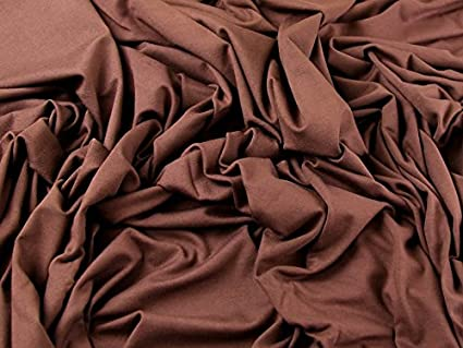 dce4292ca0b Plain Viscose & Lycra Stretch Jersey Knit Dress Fabric Chocolate Brown - per  metre: Amazon.co.uk: Kitchen & Home
