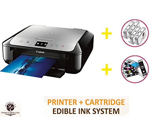 YummyInks Brand DELUXE PACKAGE 1: YummyInks Brand CANON MG6821 BUNDLED PRINTING SYSTEM - INCLUDES EXTRAS by Absolute (Image #1)