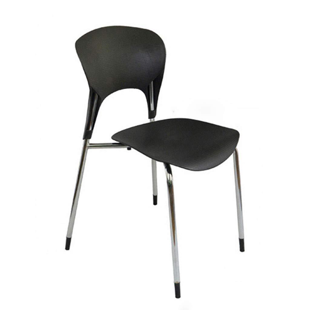 Black L41.5CMXW41CMXH79CM CHX Creative Back Home Dining Chair Fashion Office Thick Plastic Chair C (color   bluee, Size   L41.5CMXW41CMXH79CM)