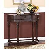 Ashley Furniture Signature Design - Brookfield Sofa Table - 1 Drawer - Traditional - Dark Brown