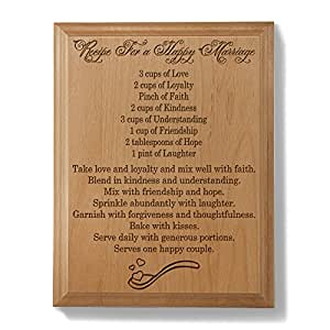 Kate Posh - Recipe For A Happy Marriage Wooden Plaque