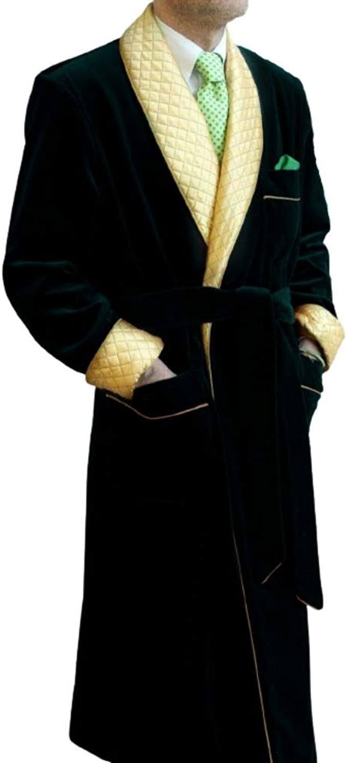 Mens Velvet Smoking Quilted Dinner Coat,Men/'s Velvet Smoking Coat