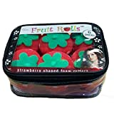 Mia Fruit Rolls, Soft Foam Hair Rollers Curlers, Strawberry Shape, Zippered Storage Case, For Girls of All Ages 6pcs