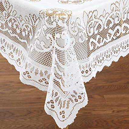 Amazoncom Lace Tablecloth Rectangle 60 X 84 Kitchen Dining
