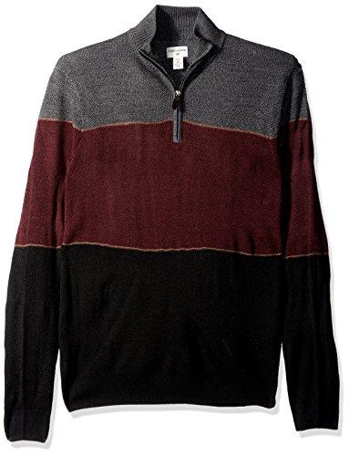 Dockers Men's Quarter Zip Soft Acrylic Sweater