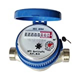 Water Meter,15 mm 1/2 Inch Cold Water Meter Read Of Cubic Meters For Garden Home Using
