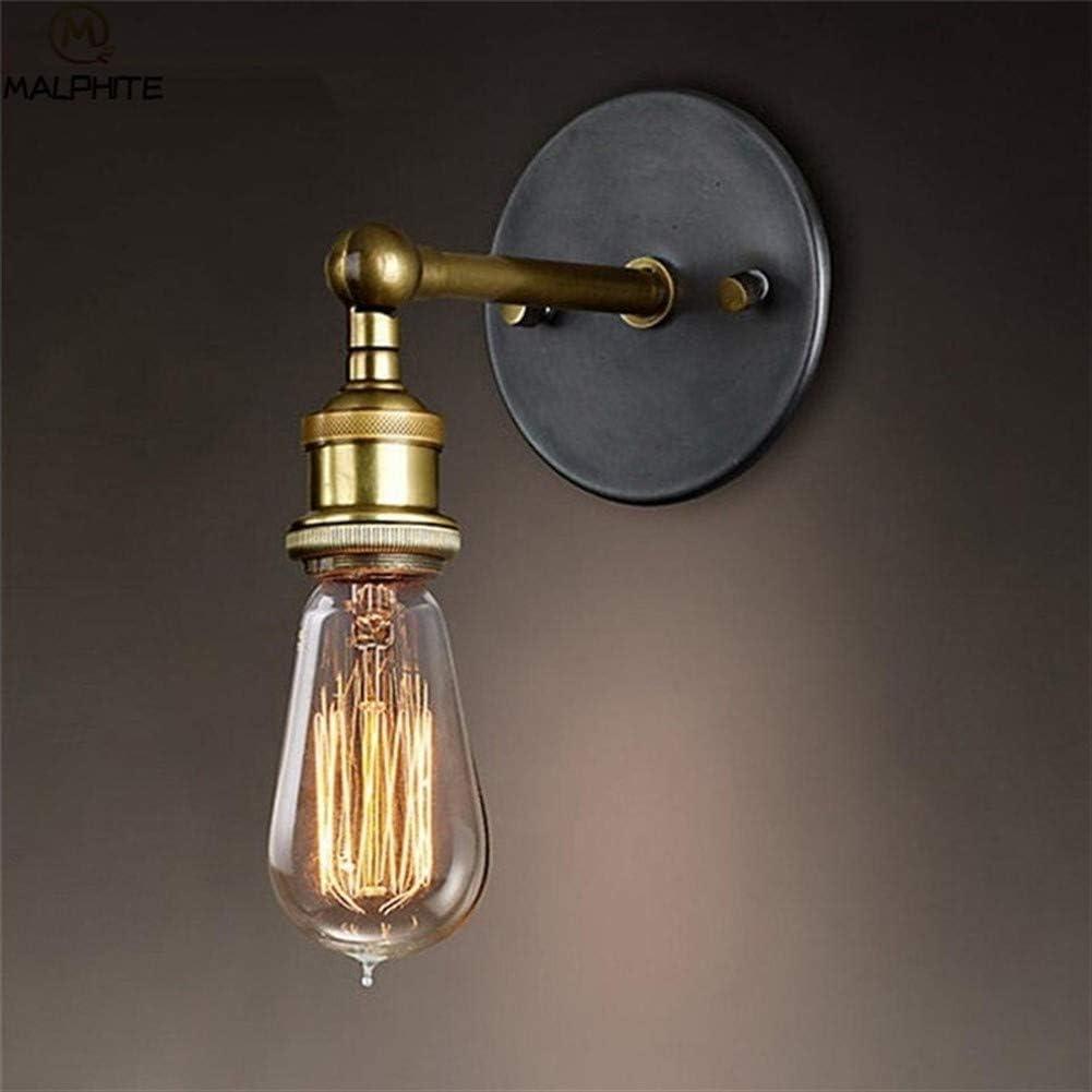ASDFGH Lámpara de Pared Retro Retro ático luz E27 Hierro dúctil Retro iluminación Industrial decoración del hogar