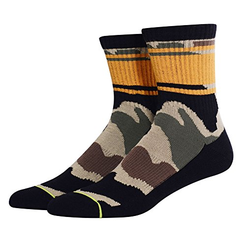 Camo Casual Crew Socks, MEIKAN Hiking Sports Woodland Performance Arch Band Boot Socks for Men 1 - Pack