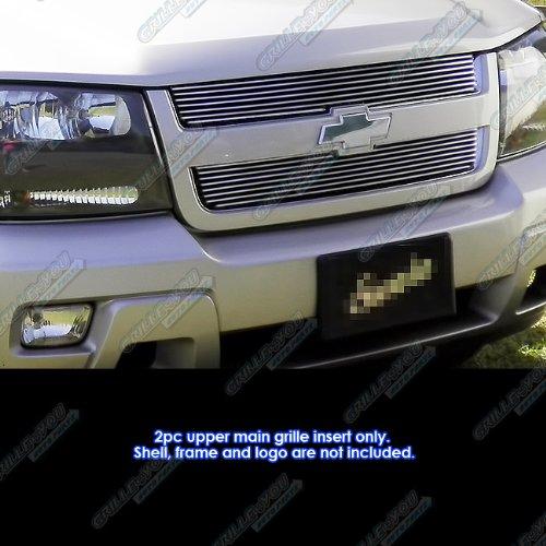 (APS Compatible with 2006-2009 Chevy Trailblazer LT Main Upper Billet Grille Insert)