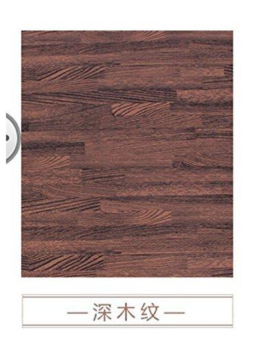 HOMEE Emulation Flooring Foam Rollmat Large Stitching Woodgrain Sponge Pad Home Child Foam Puzzle Mats,60601.2 Cm,Dark by HOMEE