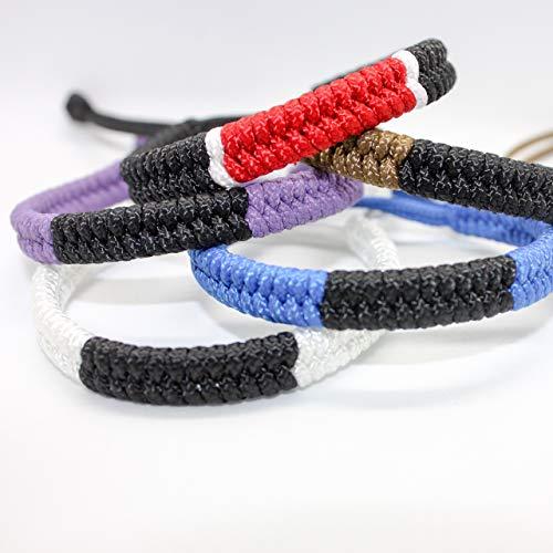 Brazilian Jiu Jitsu Ranked Paracord Bracelet