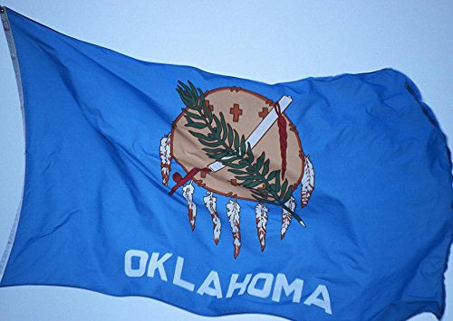 Allied Flag Outdoor Nylon Oklahoma State Flag, 2-Foot by 3-Foot