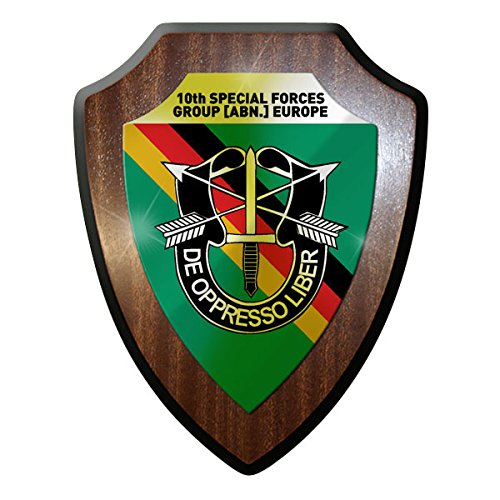 10th Special Forces Group ABN Europe green berets Germany Badge emblem - Escutcheon / Wall - Group Abns
