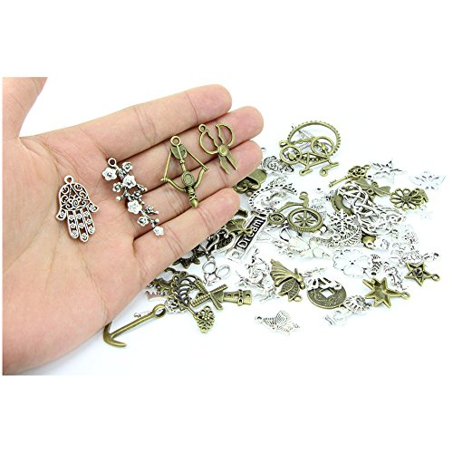 40pcs Mixed Silver Snowflake Charms Pendants For Jewelry Making Craft DIY